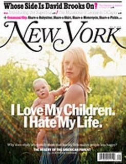 New York Magazine cover parenting