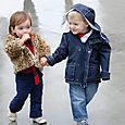 William Stepping Out with Vivi in the Rain - December 2010